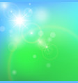 abstract green background with bokeh effect vector image vector image