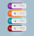abstract tab bar vertical infographics