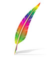 art creative feather pen concept vector image