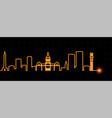 baltimore light streak skyline vector image vector image
