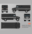 black armored truck template vector image