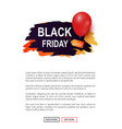 black friday sale tag advertising badge balloon vector image vector image