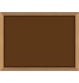 Blackboard Brown with frame in wood texture Chalk vector image