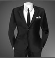business suit template vector image vector image