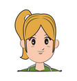 Cartoon character woman face design
