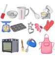 Cartoon collection for the baking vector image
