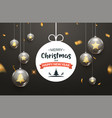 christmas ball background golden glass merry xmas vector image