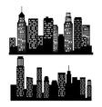 City urban design vector image vector image