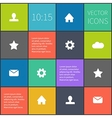colorful squared ui vector image