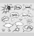comic speech bubbles set wording sound effect vector image vector image