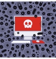Computer captured by viruses vector image