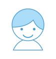 cute little boy character vector image