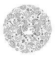 Cute magical unicorn design isolated o