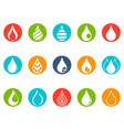 drop round button icons set vector image vector image