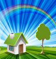 eco house concept vector image vector image