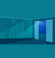 empty room in moonlight rays flat trendy walls vector image vector image