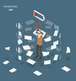 exhausting job flat isometric concept vector image vector image