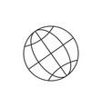 globe web icon vector image