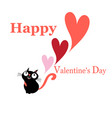 greeting greeting card with a cat in love vector image vector image