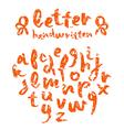 handwritten brush script with shabby texture vector image vector image