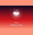 happy valentines day decorative with hearts and vector image