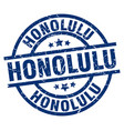 honolulu blue round grunge stamp vector image vector image