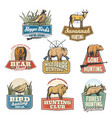 hunting sport isolated icons vector image vector image