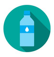 icon bottles of water in a flat vector image vector image