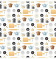 kitchen dishes flat seamless pattern vector image