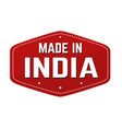 made in india label or sticker vector image vector image