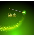 Magic wand background Miracle magician vector image