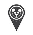 map pointer panda icon vector image