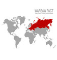 map with warsaw pact member state vector image