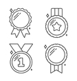 Medals Line Icons vector image vector image