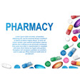 medical banner with pills and capsule background vector image vector image