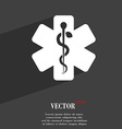Medicine symbol Flat modern web design with long vector image vector image