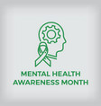 mental health awareness month design element vector image