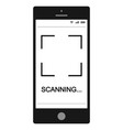 mobile phone smartphone with qr code scanning vector image