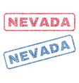 nevada textile stamps vector image