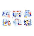 online shopping internet market mobile app vector image