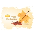 Orange Pumpkins and Autumn Leaves vector image vector image