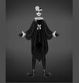 pierrot costume italian comedy del arte character vector image vector image