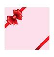 red ribbon bow 01 vector image vector image