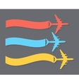 Retro Airplane Banner vector image vector image