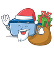 santa with gift kitchen character cartoon style vector image vector image