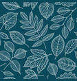 seamless floral pattern nature leaves backdrop vector image vector image