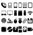 set mobile and computer devices icons vector image