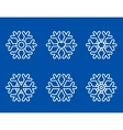 set of white snowflakes icons vector image vector image