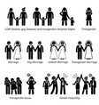 sex equality sexism social problems stick figure vector image