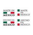 simple made in mexico and spanish translation vector image